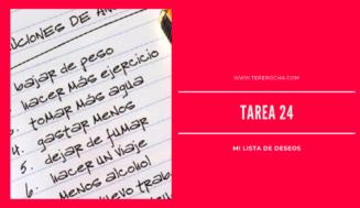 TAREA 24 «Mi Lista de lo Que Deseo»